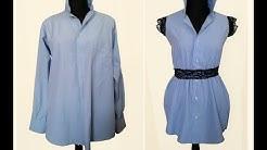 550543a89f7 Делаю платье из мужской рубашки. Переделка одежды. DIY. - Duration  9 26.