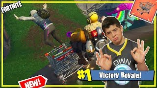 Shopping Cart Cruisin' Duos Win / Father & Son Fortnite Team / Giveaway Live