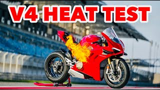 2020 Ducati Panigale V4S Review - How Hot Does It Get? (HEAT TEST)