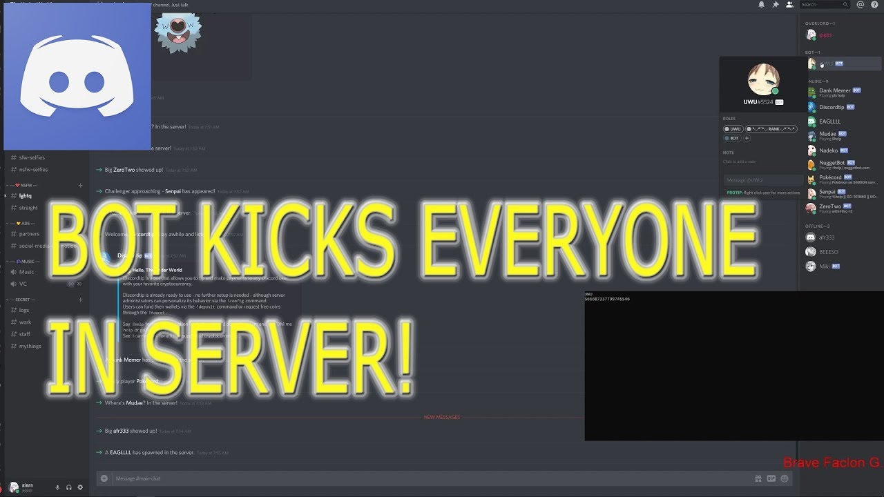 Discord - Bot to KICKS Everyone in the SERVER!!!
