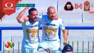 Resumen | Pumas 3 - 1 Tigres | Cuartos vuelta | Televisa Deportes