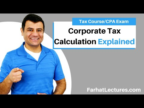 Corporate tax calculation - cpa exam regulation Ch 17 p 4