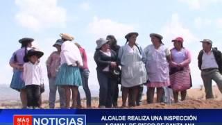 ALCALDE REALIZA UNA INSPECCIÓN  A CANAL DE RIEGO DE SANTA ANA