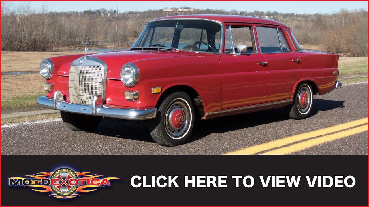 1968 mercedes 200 diesel sold motoexotica classic cars [ 1280 x 720 Pixel ]