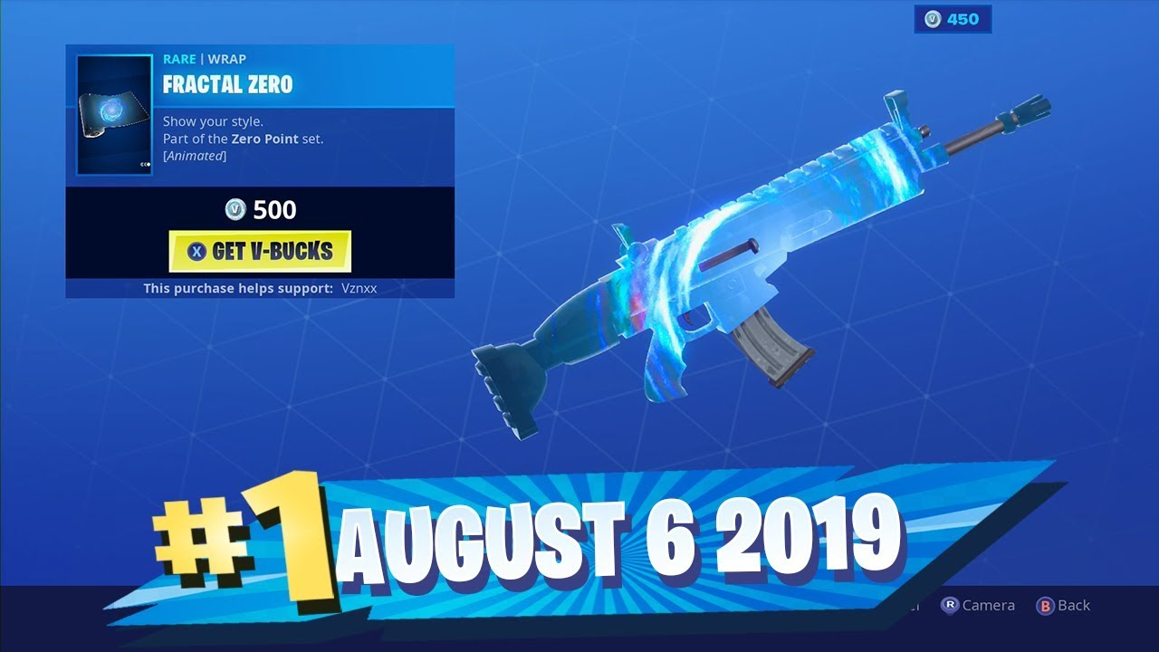 New Fractal Zero Camo Return Of A Rare Skin Fortnite Daily Item Shop Showcase August 6 2019