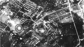German and Japanese positions destroyed by bombing from Allied bombers, during Wo...HD Stock Footage
