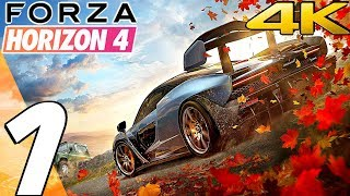 Forza Horizon 4 - Gameplay Walkthrough Part 1 - Prologue [4K 60FPS ULTRA]