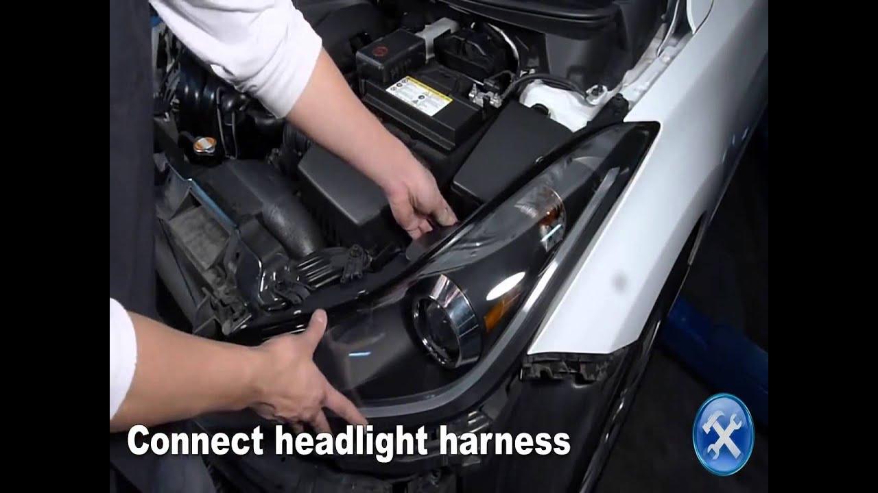 specdtuning installation video 2011 2013 hyundai elantra projector headlights mp4 [ 1280 x 720 Pixel ]