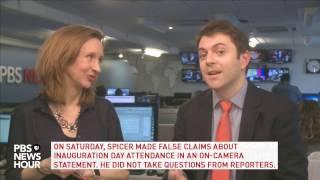 Repeat youtube video NewsHour's politics team breaks down Sean Spicer's press briefing