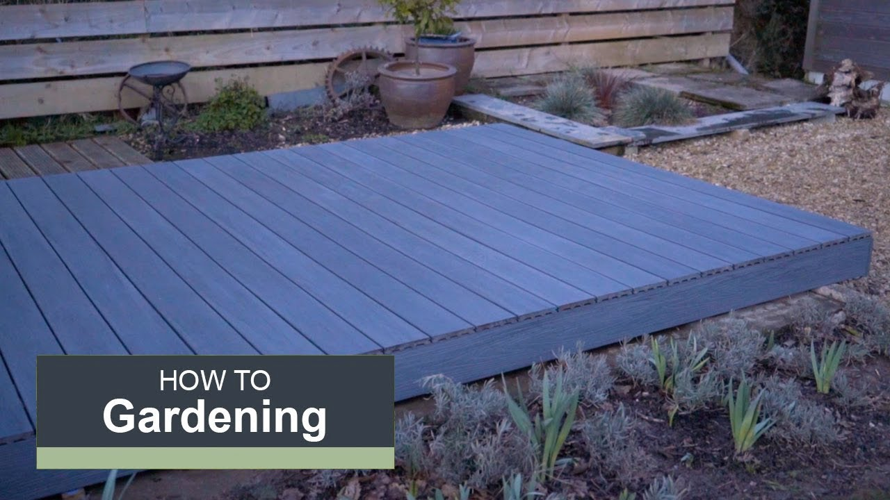 How to install a composite deck with wickes youtube for Composite decking wickes