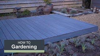 How to install a composite deck with Wickes