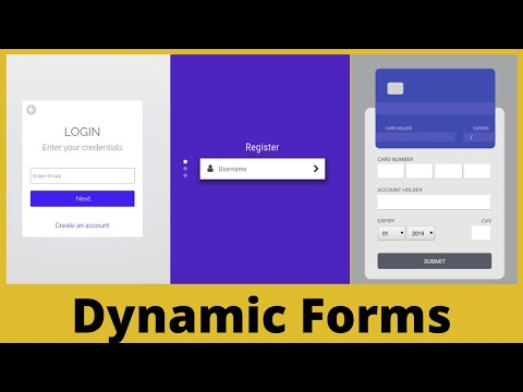 3 Animated Dynamic Web Forms [ Login | Registration | Credit Card Input ]