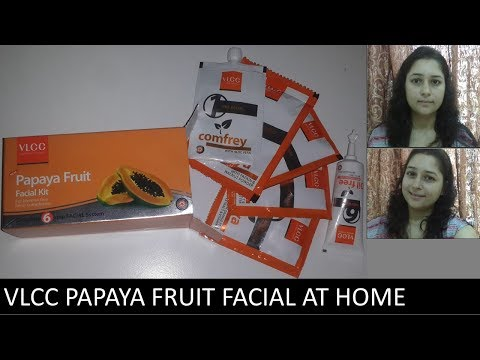 HOW TO DO FACIAL AT HOME STEP BY STEP USING VLCC PAPAYA FRUIT FACIAL KIT