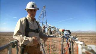 Elite SRP crew repairs live high voltage power lines