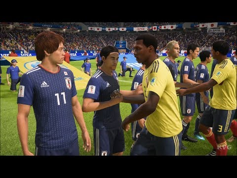 2018 FIFA World Cup Russia - Colombia vs Japan - Gameplay (HD) [1080p60FPS]