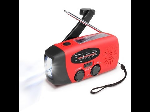 MECO Solar Hand Crank Powered Emergency Radio (Prepping must have)