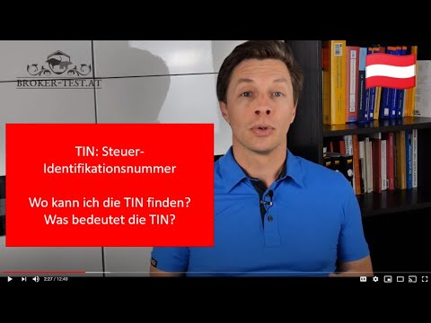 TIN: Steuer-Identifikationsnummer - wo kann ich die TIN finden? Was bedeutet die TIN? 🇦🇹
