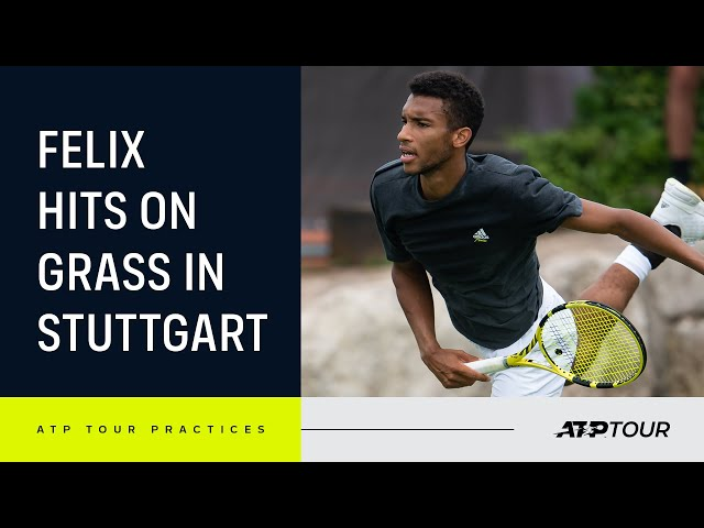 Exclusive Auger-Aliassime Practice On Grass