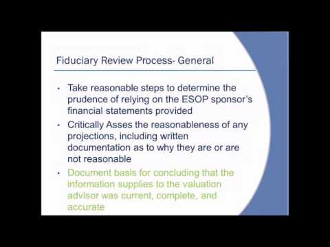 "New ""Fiduciary Process Requirements"" for ESOP Trustees: Document, Document, Document"