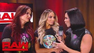 Mickie James & Alicia Fox brawl with Trish Stratus and Lita: Raw, Oct. 22, 2018