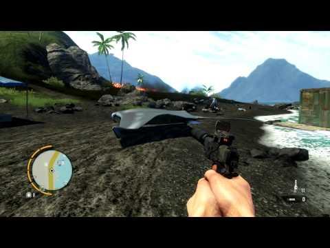 Far Cry 3 - Flying Stingray & Shark glitch