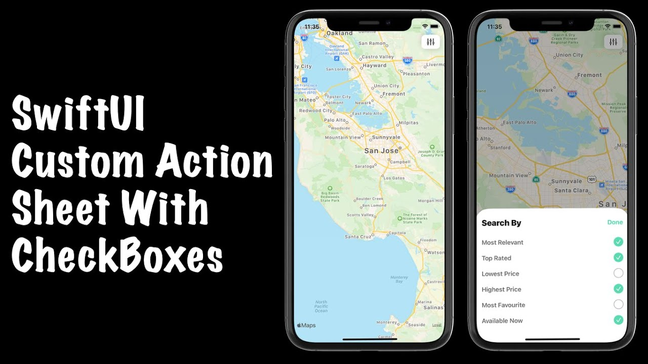 SwiftUI Custom Action Sheets With CheckBoxes - SwiftUI Checkbox