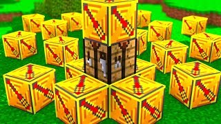 Minecraft Electric Lucky Block Hunger Games | JeromeASF
