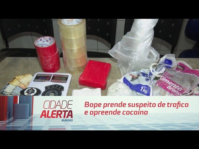 Bope prende suspeito de tráfico e apreende cocaína em Chã de Bebedouro