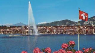 Отдых в Швейцарии. Поездка по улицам Женевы 4/ Holidays in Switzerland. Ride through the streets