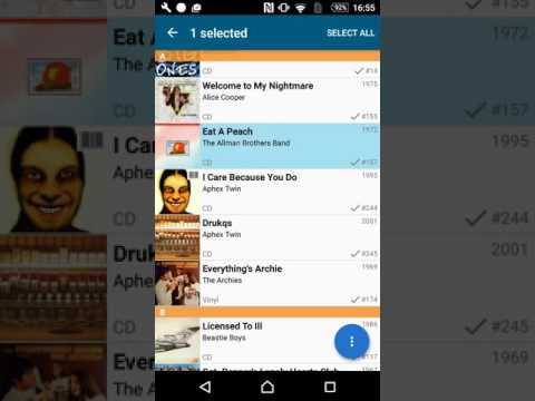 Remove some albums in CLZ Music for Android