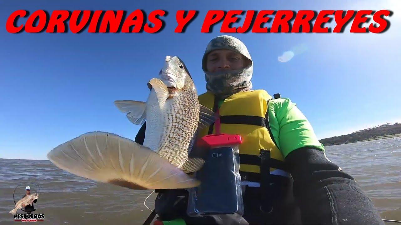 PESCA DE PEJERREYES Y CORVINA, MINGOS, EN 3 HORITAS, DIQUE NACIONAL