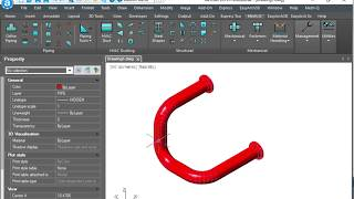 CAD Piping Input : Direct Distance Example