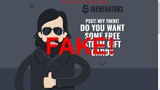 """EXPOSING A FAKE """"FREE GIFT CARD"""" GENERATOR!"""