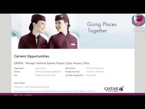 How to find a Job in Qatar  How to Apply Online for Job  How to Apply on for Qatar Airways Job
