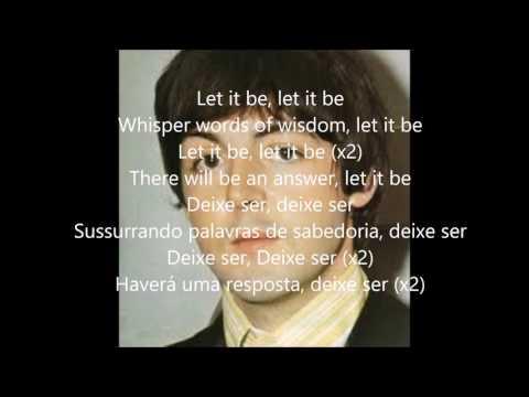 Let it be com lyrics e tradução em português