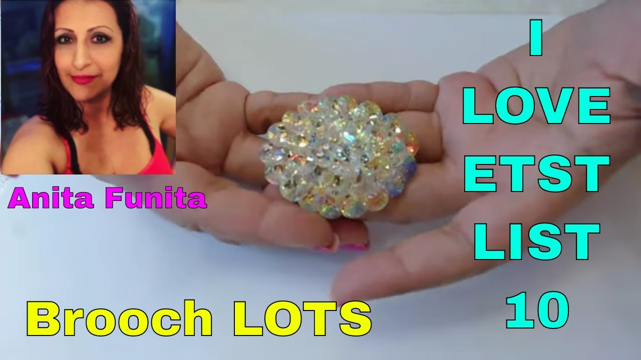 I Love Etsy, List 10 Series, What's selling! Episode 25 Vintage Brooch Beauties, Resell