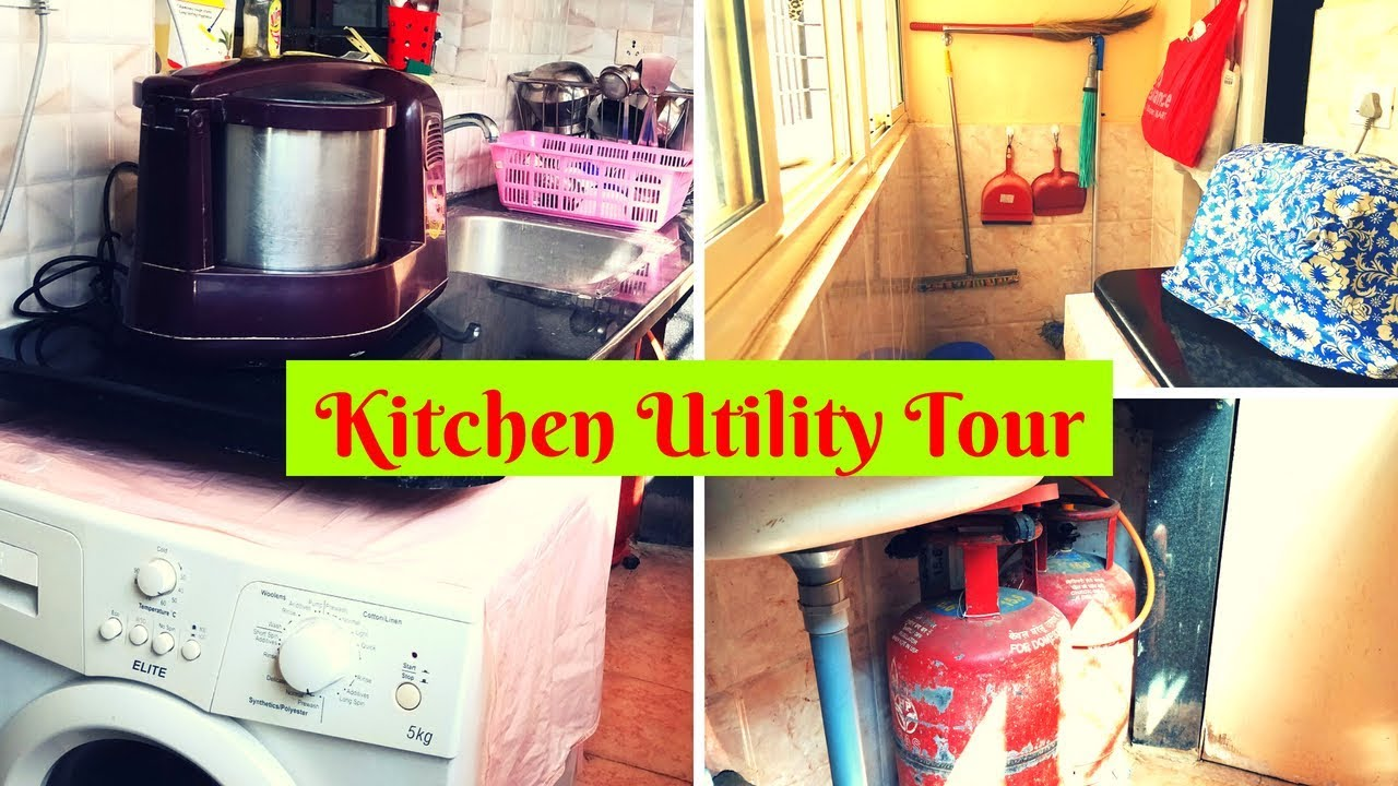 Kitchen Utility Work Area Tour Design And Organizing