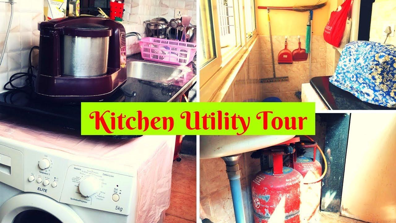 Kitchen Utility Work Area Tour Design And Organizing Ideas Series 2