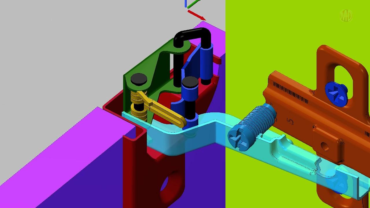 Mechanism Design  European Hinge FourBar  YouTube