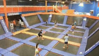DJ Playing Dodgeball at Sky Zone