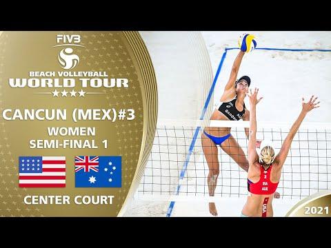 Alix/April vs. Clancy/Artacho del Solar - Women's SF   Full Match   4* Cancun 2021 #3