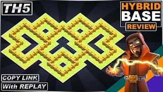 LEGENDARY TH5 Base with REPLAY 2021!! Town Hall 5 (TH5) HYBRID Base with Copy link - Clash of Clans