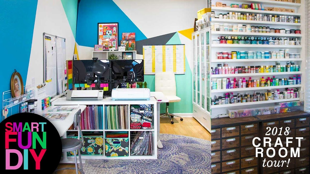 2018 Craft Room Tour How I Organize My Craft Supplies