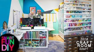 2018 Craft Room Tour!! 😍 How I Organize My Craft Supplies 😮 I Got Rid Of 90% Of My Craft Supplies