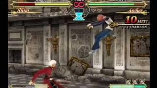 Fate Unlimited Codes Shiro Vs Archer