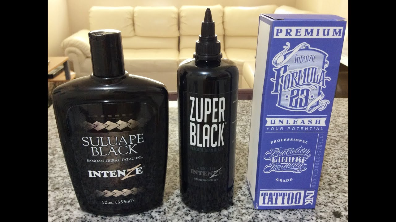 Zuper black suluape y formula23 youtube for Zuper black tattoo ink intenze