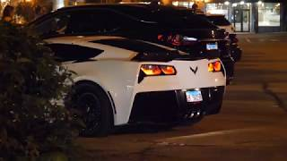 Cammed 2019 C7 Corvette Idle Sound and Revs Before Leaving Downers Grove IL Car Show