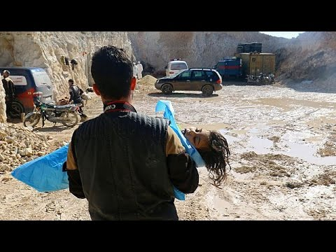 Syria suspected poison gas attack 'may have killed 100'