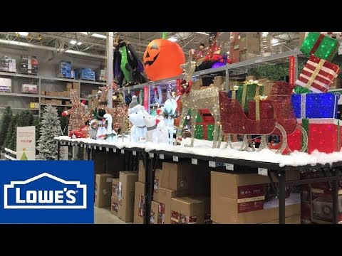 Lowes Christmas Decorations.Lowe S Christmas Decorations Trees Home Decor Lowes Shop With Me Shopping Store Walk Through 4k