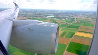 Smooth Airbus A350-900 landing in Munich [1080p, 60fps]